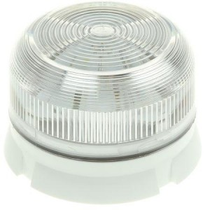 Klaxon QBS-0045 Xenon Flashguard Beacon with Clear Lens Surface Mount Low Profile 12/24v DC