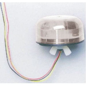Klaxon QBS-0046 Xenon Flashguard Beacon with Clear Lens Surface Mount Ultra Low Profile 12/24v DC