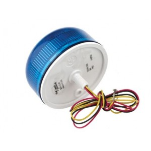 Klaxon QBS-0049 Xenon Flashguard Beacon with Blue Lens Surface Mount 12/24v DC Ultra Low Profile