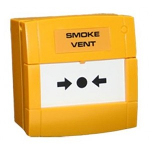Haes Smoke Vent 470ohm Yellow Manual Call Point MCP1A-Y-AOV