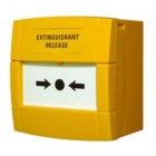 "Morley Yellow ""Extinguishant Release"" Call Point 470 Ohm"