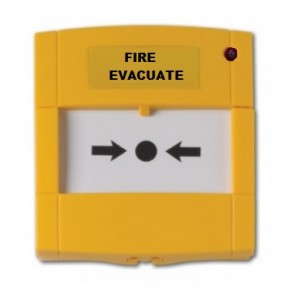 "Minerva MX Conventional MCP270 Callpoint with ""Fire Evacuate"" Marking"