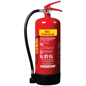 6 Litre CommanderEdge MultiChem Multi Class Fire Extinguisher (34A, 233B 75F)