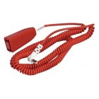 C-Tec NC805D Coiled Tail Call Lead 1.2-3.6m (4-12ft)