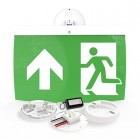 Hochiki Firescape 40m Maintained Exit Sign Kit with Up Arrow