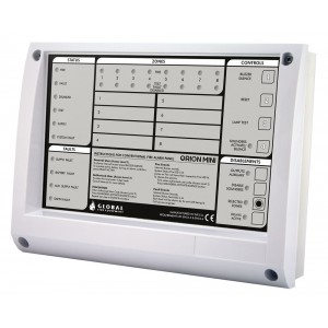Global Fire Orion Mini 2 Zone Conventional Fire Alarm Control Panel