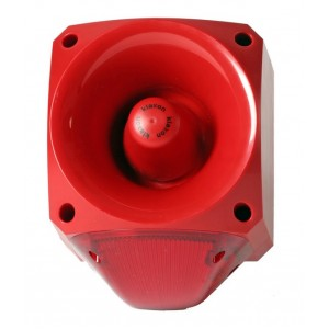 Klaxon Nexus 110dB Sounder Beacon, Xenon Red Lens 110/230v AC - PNC-0016 (18-980558)