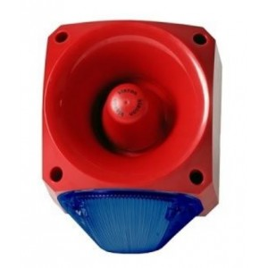 Klaxon Nexus 110dB Sounder Beacon, Xenon Blue Lens 10-60v - PNC-0050 (18-980662)