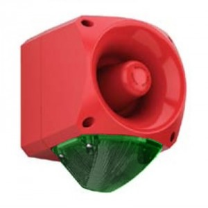 Klaxon Nexus 120dB Sounder Beacon, Xenon Green Lens 120/230v AC - PNC-0056 (18-980668)