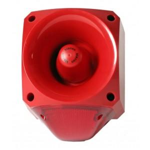 Klaxon Nexus 110dB Sounder Beacon Low Voltage, LED Red Lens 24-48v AC - PNC-0062 (18-980674)