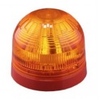 Klaxon Sonos LED Sounder Beacon, Shallow Base, Red Body, Amber Lens (17-60v) (PSC-0025)