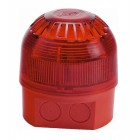 Klaxon Sonos Sounder Beacon, Deep Base, Red Body, Red Lens 17-60v (LED with Link) - PSC-0042 (18-980570)