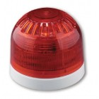 Klaxon Sonos Sounder Beacon, Shallow Base, Red Body, Red Lens (LED with Link) (PSC-0047)