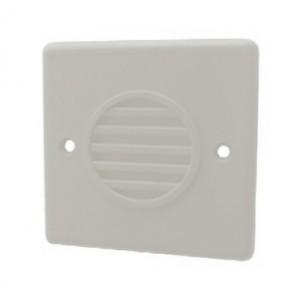 Klaxon White Compact Sounder, Flush Mount, 10-30v DC - PSS-0035 (18-980456)