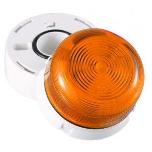 Klaxon 3W Xenon Flashguard Beacon with Amber Lens 110v AC - QBS-0003 (45-711321)