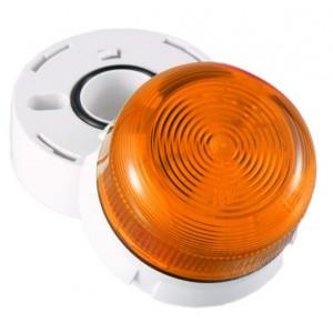 Klaxon 3W Xenon Flashguard Beacon with Amber Lens 230v AC - QBS-0018 (45-712321)