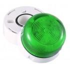Klaxon Flashing LED Flashguard Beacon with Green Lens 230v AC - QBS-0031 (45-712851)