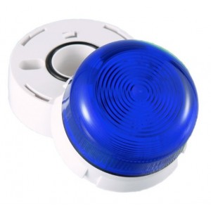 Klaxon 2W Xenon Flashguard Beacon with Blue Lens 12/24v DC - QBS-0047 (45-713241)