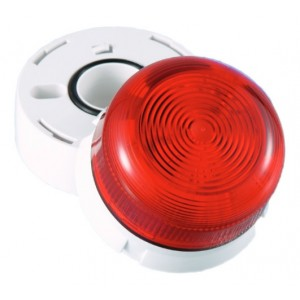 Klaxon LED Flashguard Beacon with Red Lens 11-35v DC - QBS-0060 (45-716411)