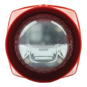 Gent S3 Red Body Sounder High Power with Red VAD - S3-S-VAD-HPR-R