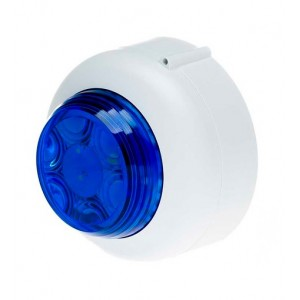 Cranford Controls VXB-12V-SB-WB/BL LED Beacon 12v White Body Blue Lens Shallow Base