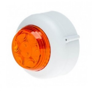 Cranford Controls VXB LED Beacon 12v White Body Amber Lens Shallow Base