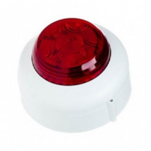 Cranford Controls VBX-SB-WB/RL LED Beacon 24v White Body Red Lens Shallow Base