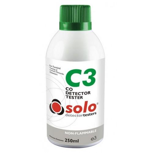 Solo C3 Carbon Monoxide Detector Test Gas