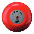 Klaxon 8 Inch Fire Alarm Bell in Red 24v - TAA-0015 (18-980852)
