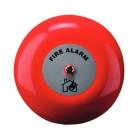 Klaxon 6 Inch Weatherproof Fire Alarm Bell in Red 24v - TAA-0017 (18-980853)