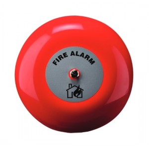 Klaxon 6 Inch Weatherproof Fire Alarm Bell in Red 24v - TAA-0017 (18-980853)