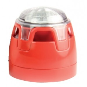 Gent Sounder VAD Beacon Red Base White Flash with IP65 Base - CWSS-RW-W5