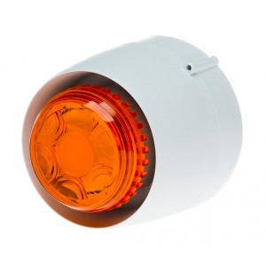 Cranford Controls VTB-32E-SB-WB/AL Spatial Sounder Beacon 24v 32 Tone White Body Amber Lens Shallow Base