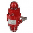 Vimpex Explosion Proof Aluminium Dual 5J Xenon and LED Beacon in Red