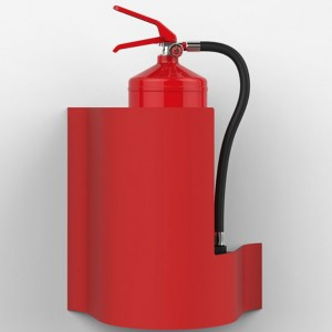 Commander Wave Red Wall Extinguisher Stand