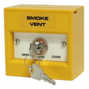 Haes Smoke Vent 3-Position Yellow Firemans Key Switch WYK30S-AOV