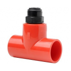 Vesda Xtralis Red T-Piece Capillary Connector (25mm/10mm)